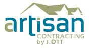 Artisan Contracting by J. OTT logo